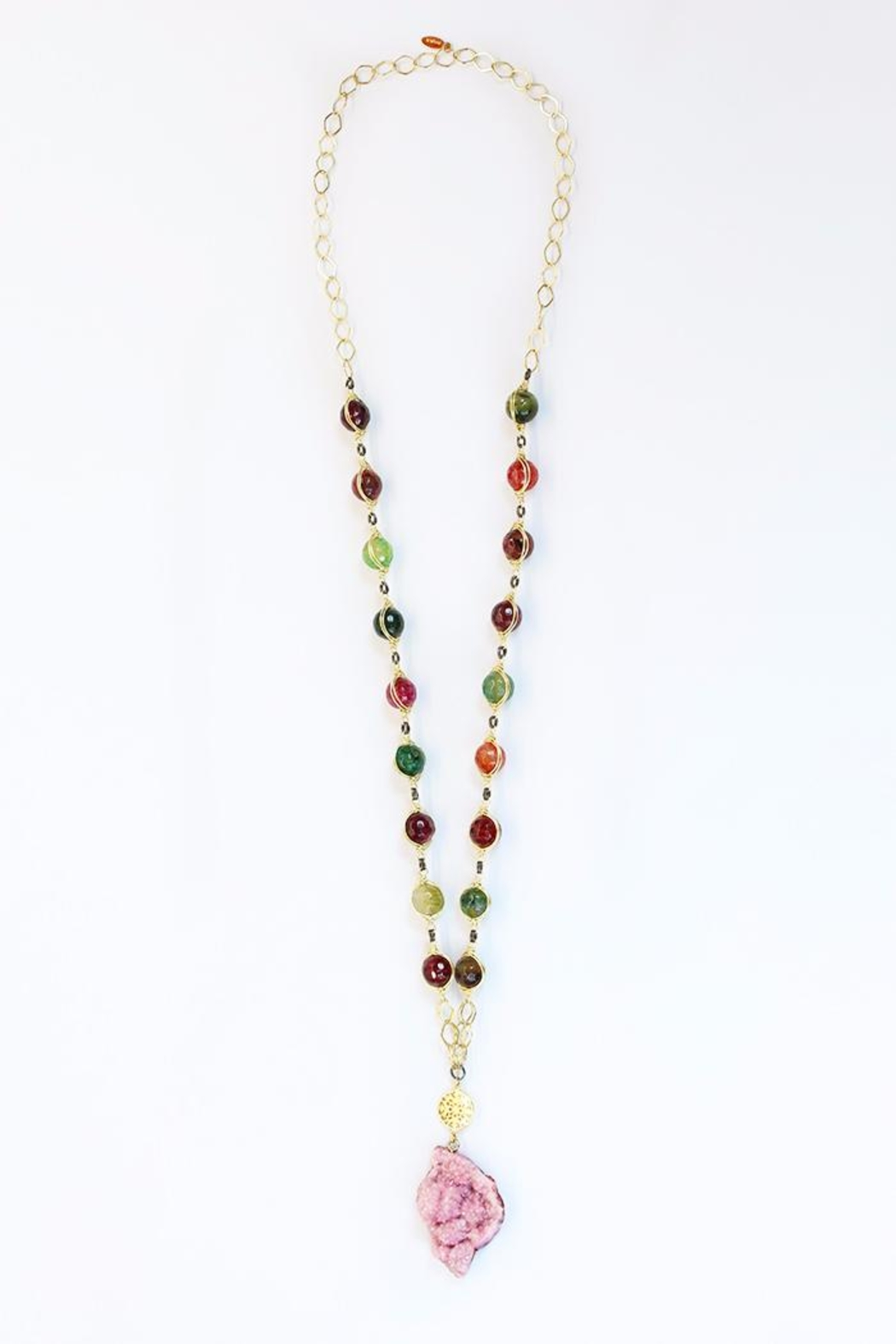 CHICKS MTY Long Druzy Necklace - Main Image