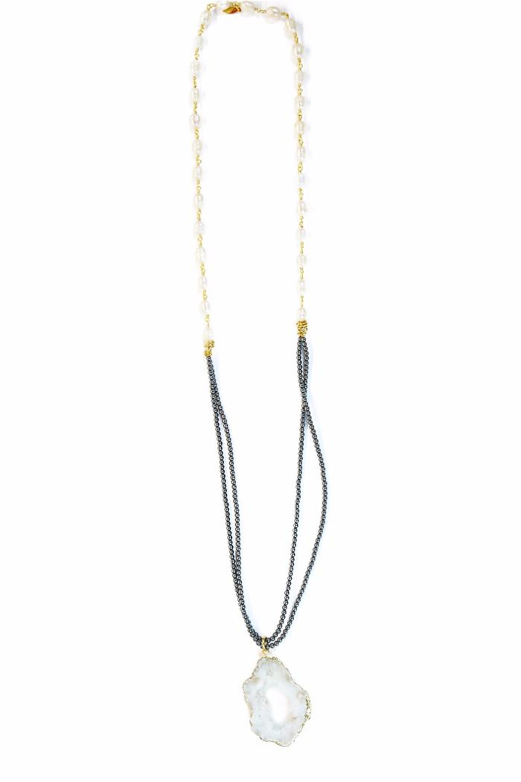 CHICKS MTY Long Gold Plated Necklace - Main Image