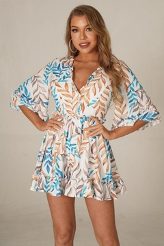 Chicways Leafy Print Romper - Product List Image