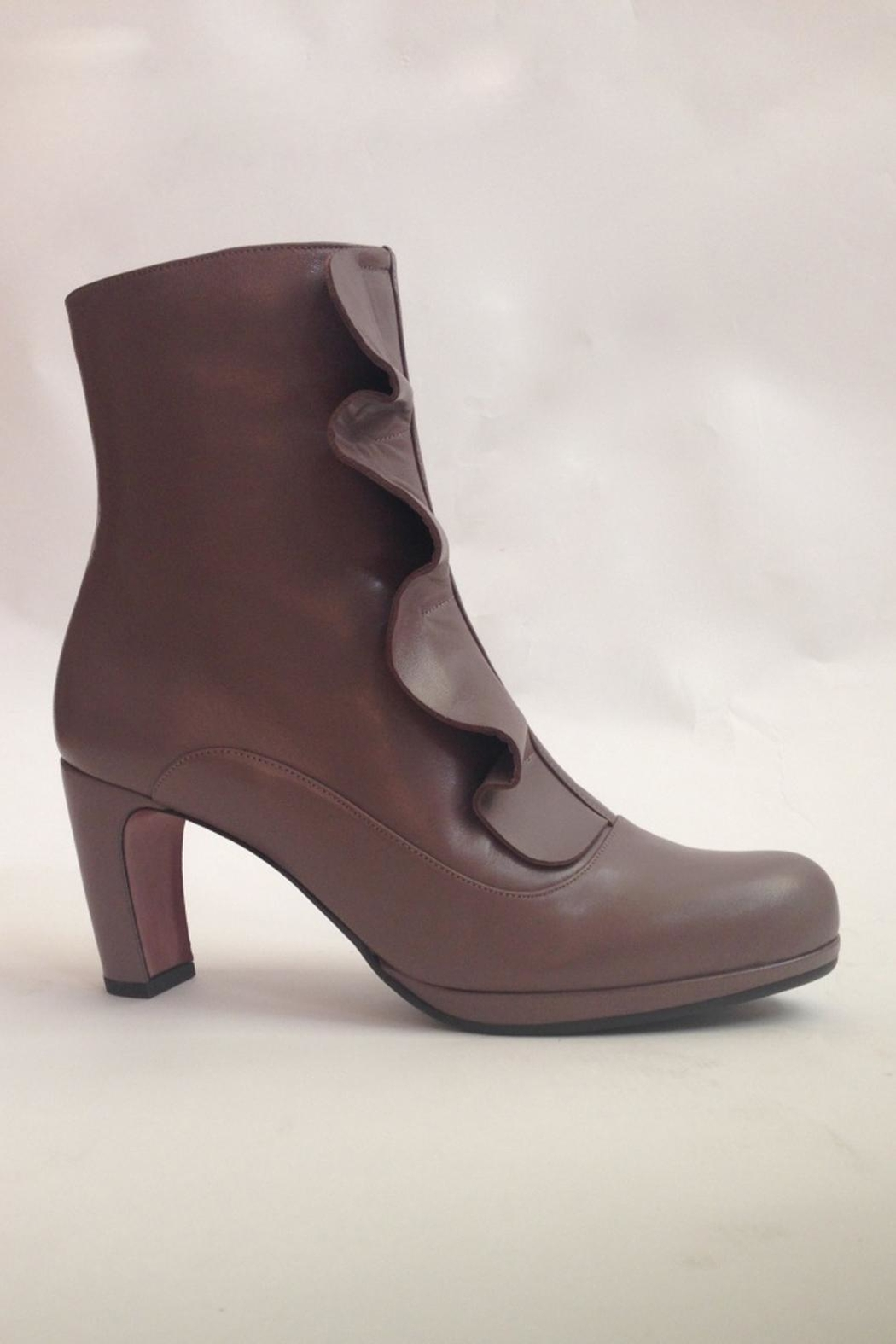 Chie Mihara Ankle Boots With Ruffle - Front Full Image