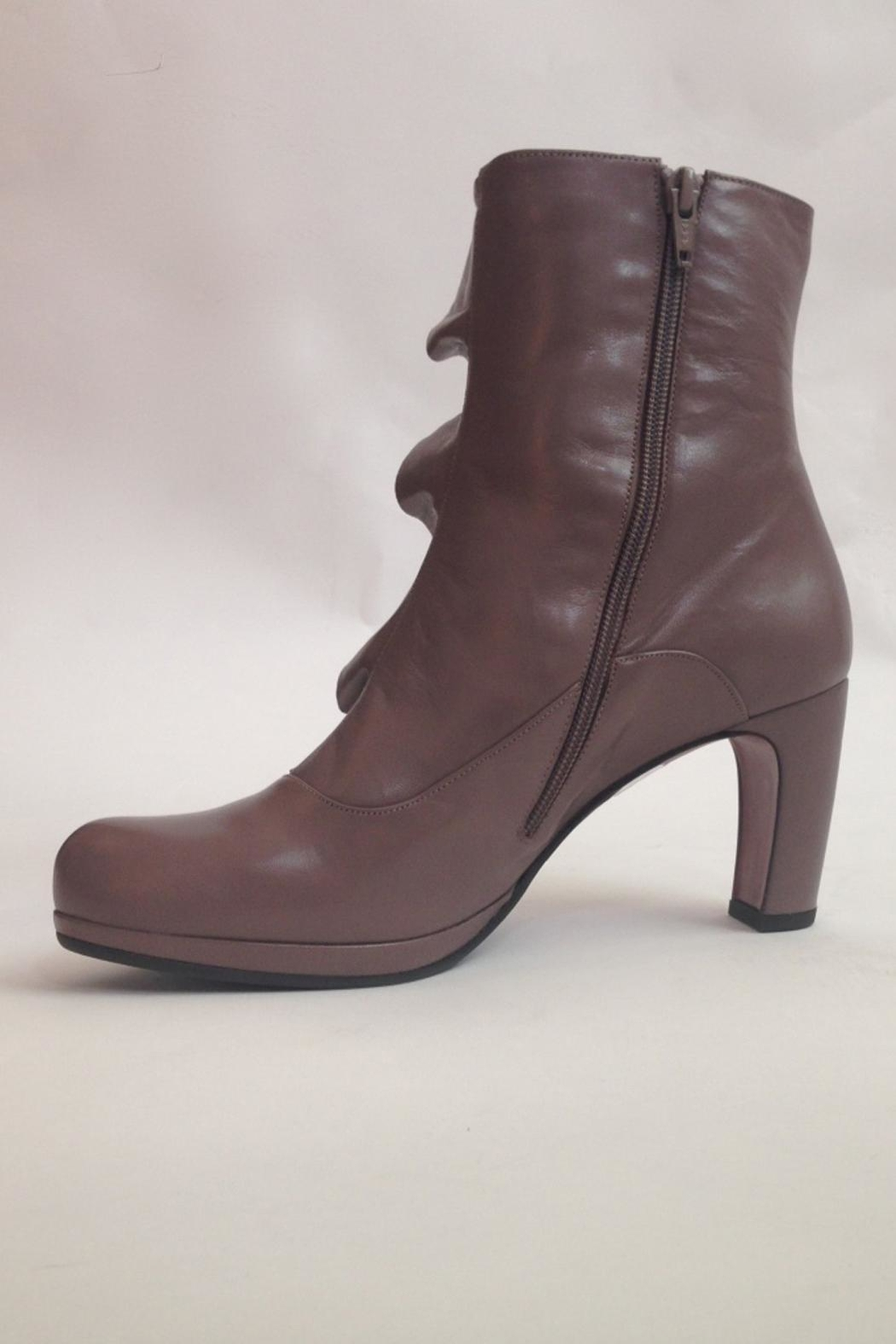 Chie Mihara Ankle Boots With Ruffle - Main Image