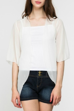 Color Swatch Chiffan Back-Lace Cardigan - Product List Image