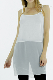 Melody Chiffon Bottom Slip Tunic - Product Mini Image