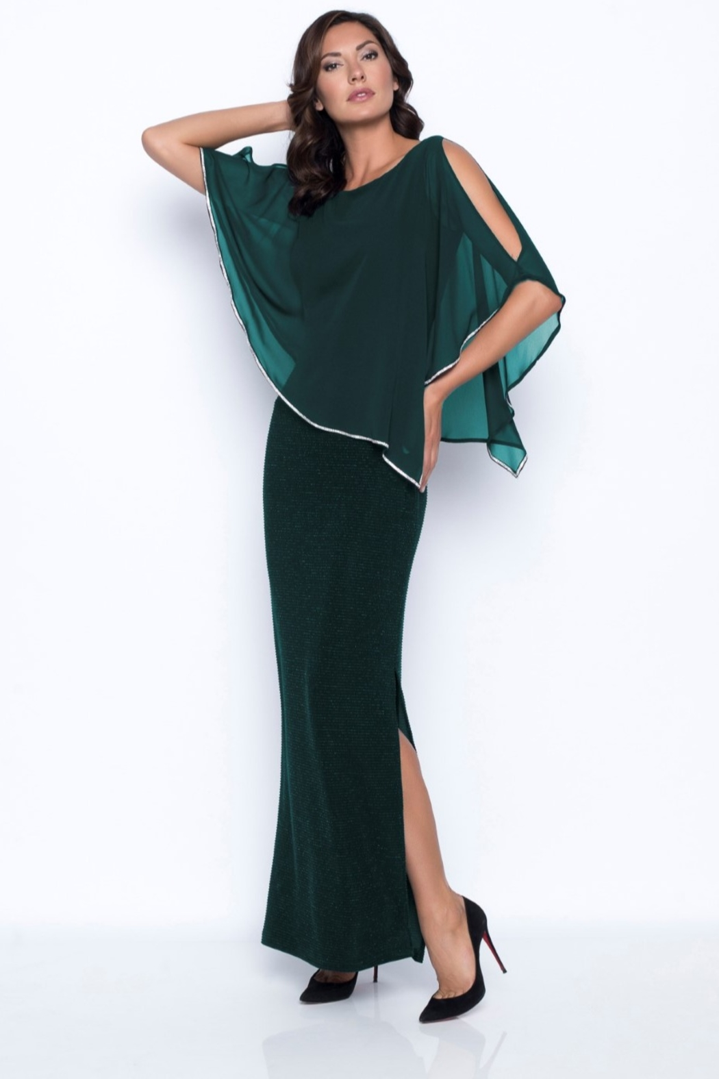 Frank Lyman Chiffon Drape Dress - Main Image