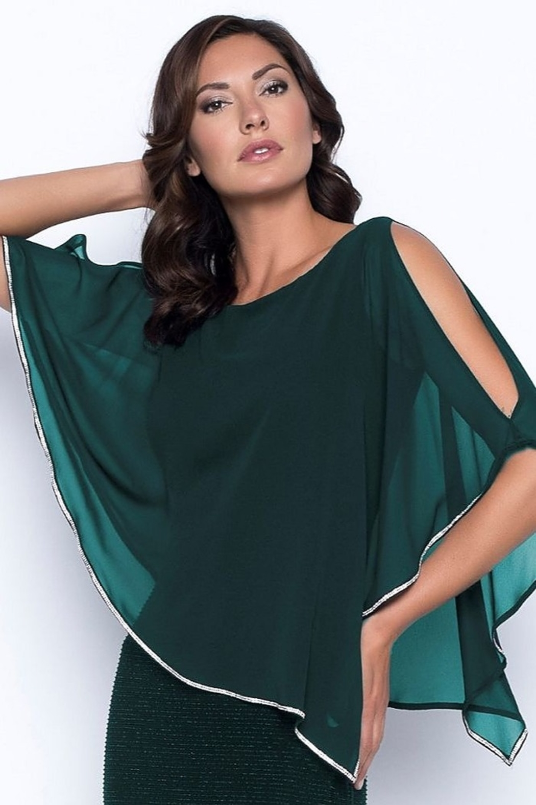 Frank Lyman Chiffon Drape Dress - Front Full Image