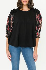 Mystree chiffon flare sleeve top - Front cropped