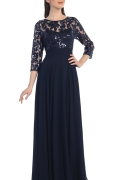 Cindy Collection Floral Lace Mother of the Bride Gown - Alternate List Image