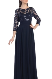 Cindy Collection Chiffon + Lace Sequins Gown - Product Mini Image
