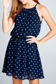 DNA Couture Chiffon Navy Dress - Front full body