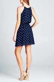 DNA Couture Chiffon Navy Dress - Back cropped