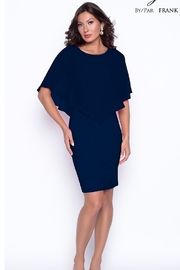 Frank Lyman Chiffon overlay cape dress - Product Mini Image