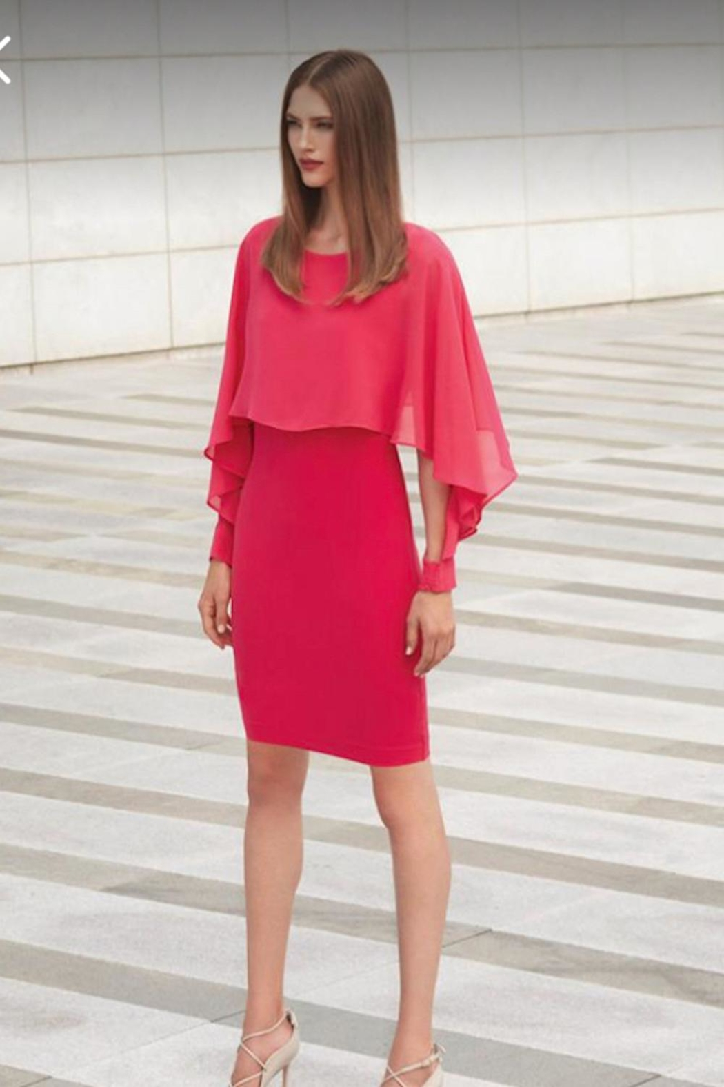 Picadilly Chiffon Overlay Dress - Front Cropped Image