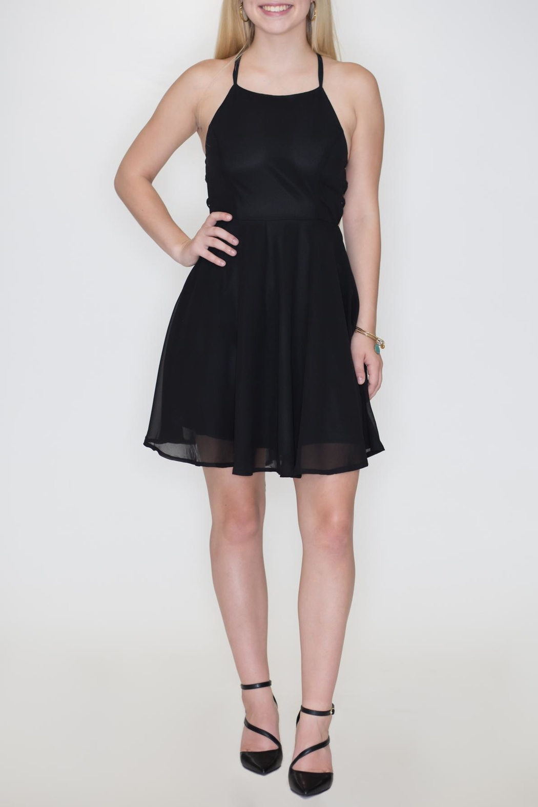 Listicle Chiffon Party Dress - Front Cropped Image