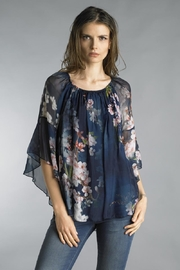 Tempo Paris Chiffon Peasant Blouse - Product Mini Image