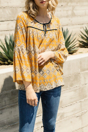 Mystree Chiffon print peasant blouse - Product Mini Image
