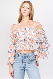 Lulumari Chiffon Ruffle Top - Product Mini Image