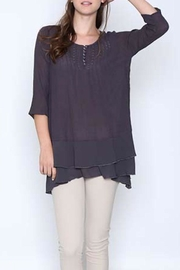 Monoreno Chiffon Ruffled Top - Front cropped