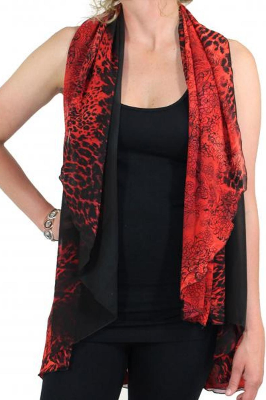 7791cdf56f3 Magic Scarf Chiffon Vest-Red from California by KIMBALS — Shoptiques