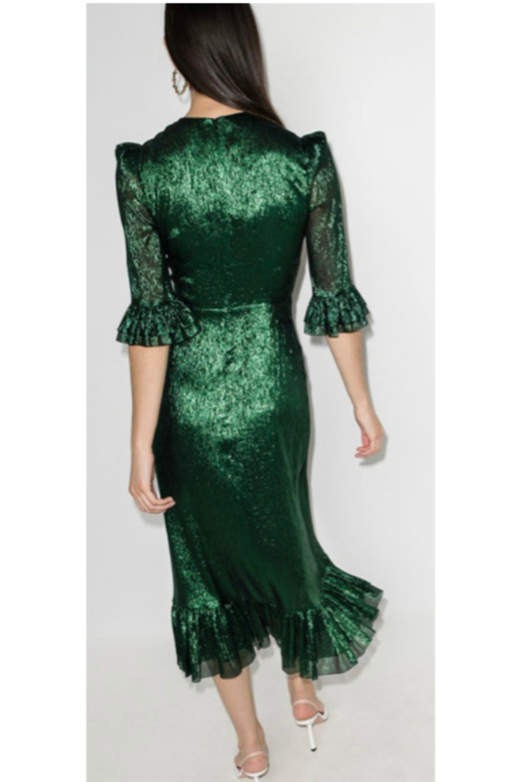 The Vampire's Wife CHIFFON VILLANELLE DRESS - Side Cropped Image