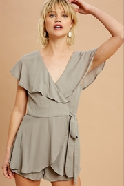 Listicle Chiffon Wrap Romper - Product Mini Image
