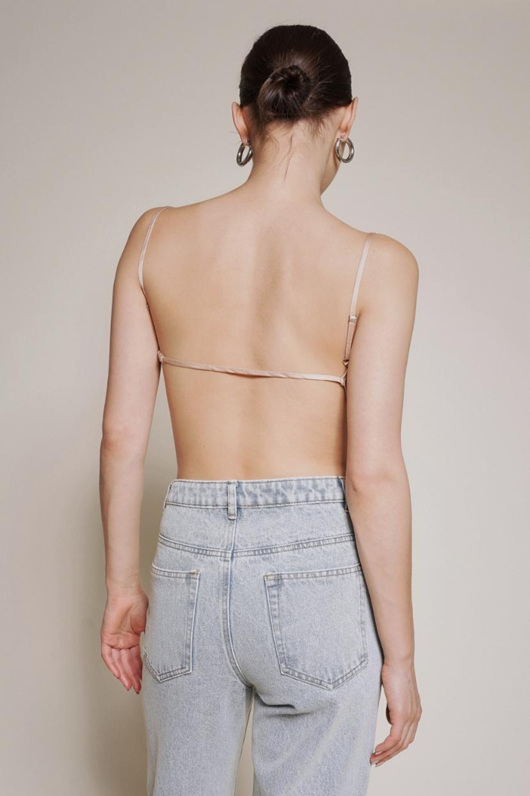Chikas Backless Satin Top - Front Full Image