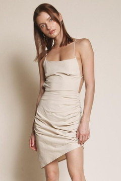 Chikas Beige Open-Back Dress - Product List Image