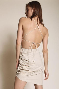 Chikas Beige Open-Back Dress - Alternate List Image