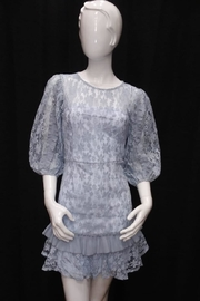 Chikas Blue Lace Dress - Product Mini Image