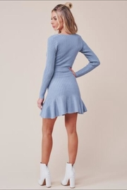 Chikas Blue Sweater Dress - Back cropped
