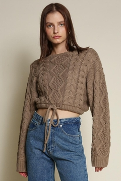 Chikas Cable Knit Sweater - Product List Image