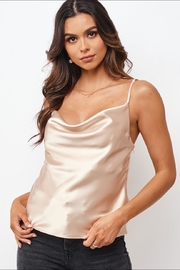 Chikas Champagne Satin Top - Product Mini Image