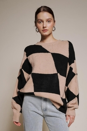 Chikas Checkered Sweater - Front cropped
