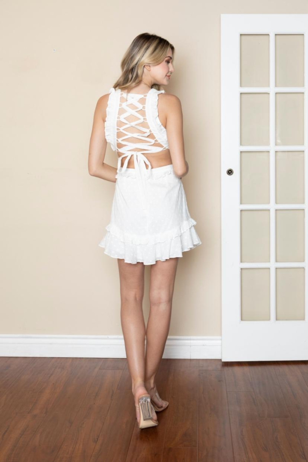 Chikas Cotton Cut-Out Dress - Front Full Image