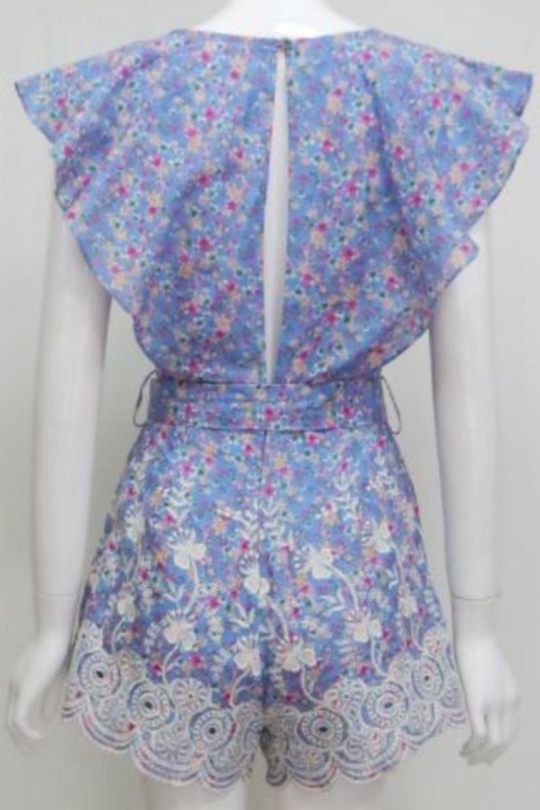 Chikas Cotton Floral Romper - Front Full Image