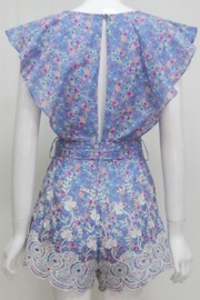 Chikas Cotton Floral Romper - Front full body