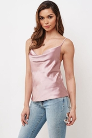 Chikas Cowl-Neck Satin Top - Product Mini Image