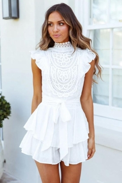 Chikas Crochet Trim Romper - Product List Image