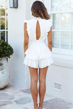 Chikas Crochet Trim Romper - Alternate List Image