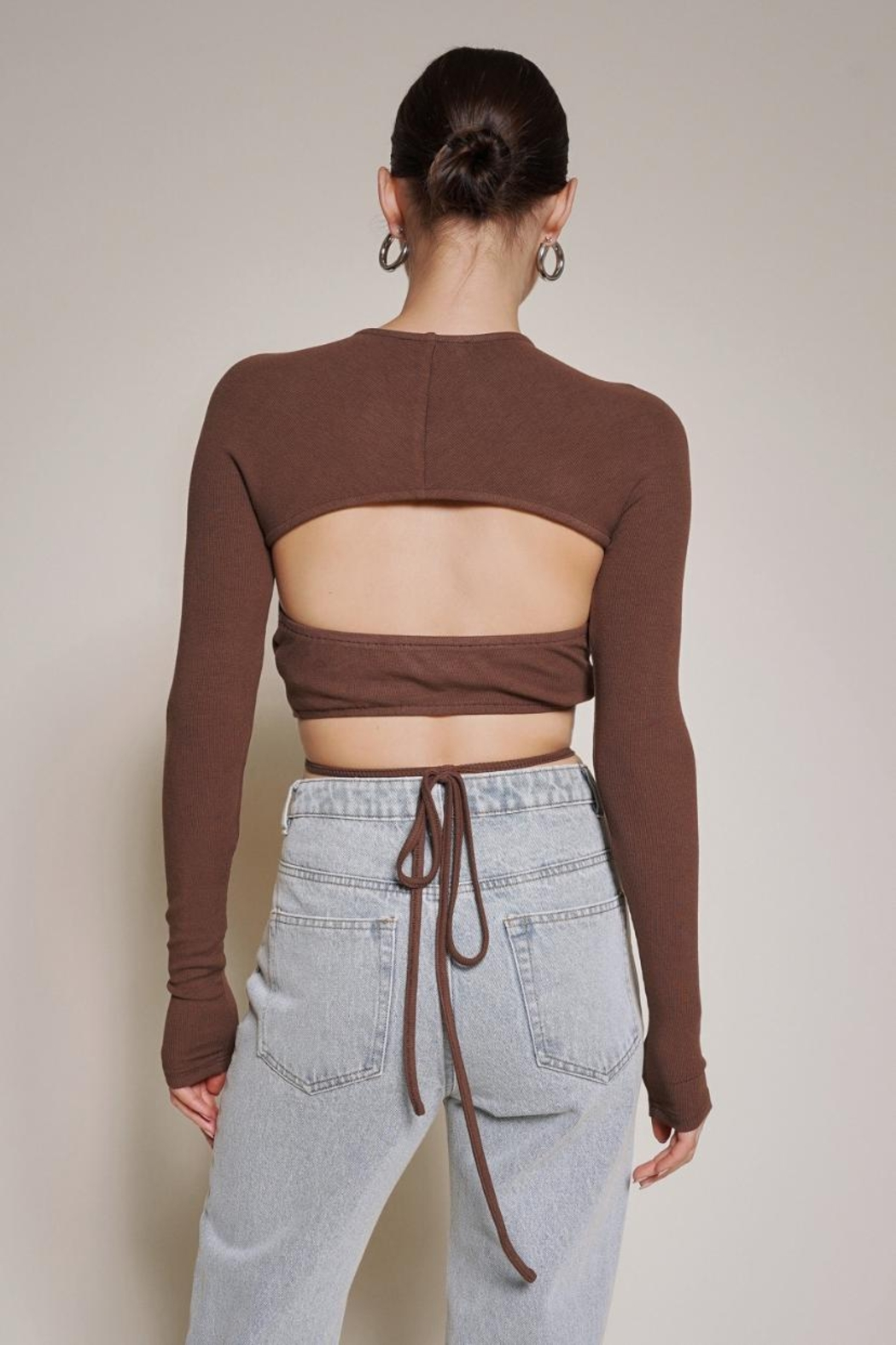 Chikas Cut-Out Crop Top - Front Full Image