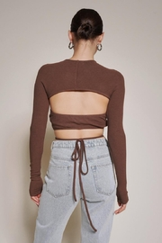 Chikas Cut-Out Crop Top - Front full body
