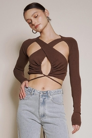 Chikas Cut-Out Crop Top - Product Mini Image