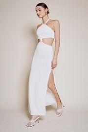 Chikas Cut-Out Halter Maxi - Front cropped