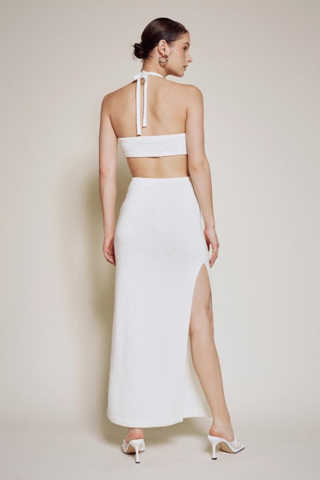 Chikas Cut-Out Halter Maxi - Front Full Image