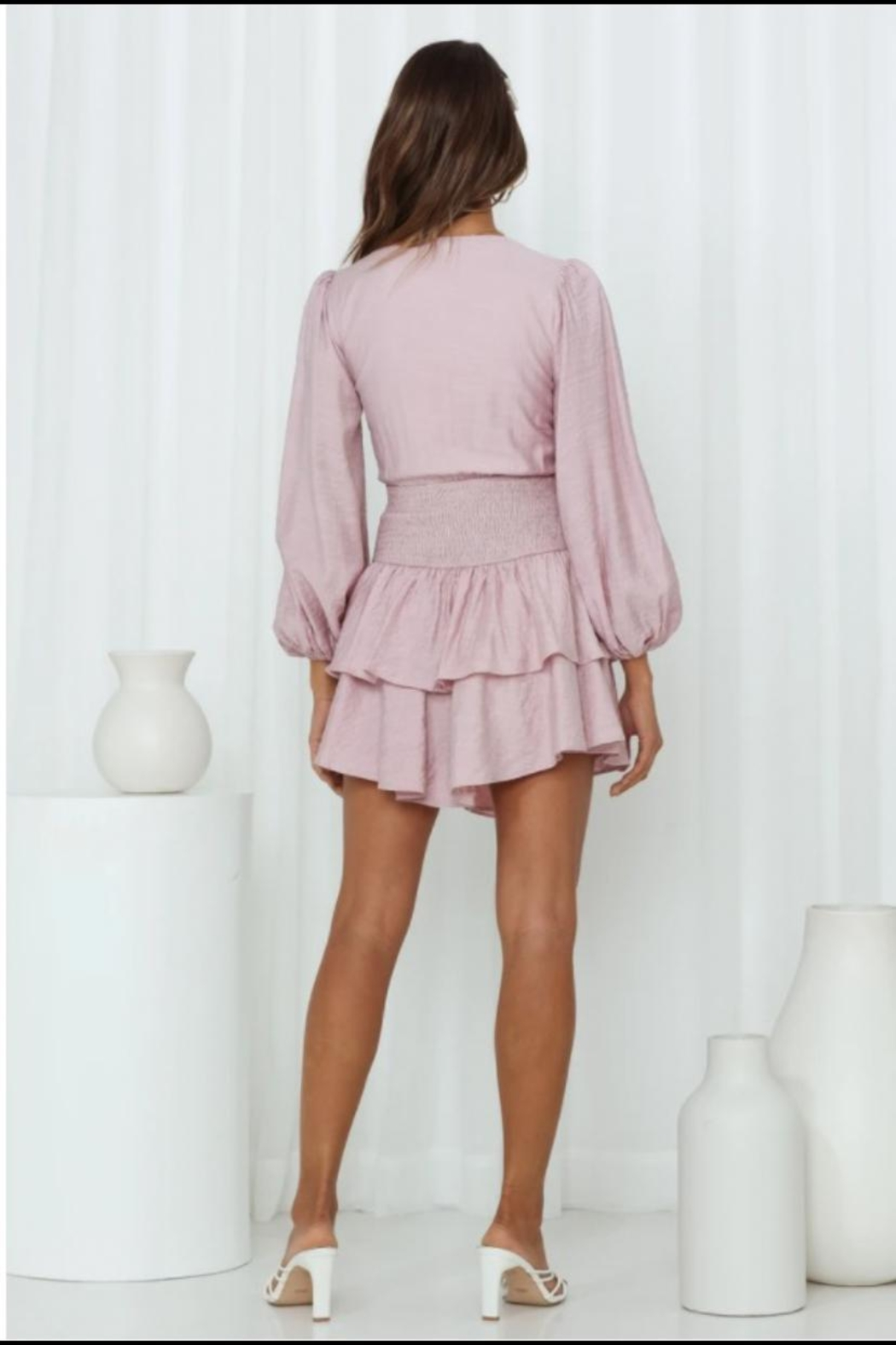 Chikas Cut-Out Tiered Dress - Front Full Image