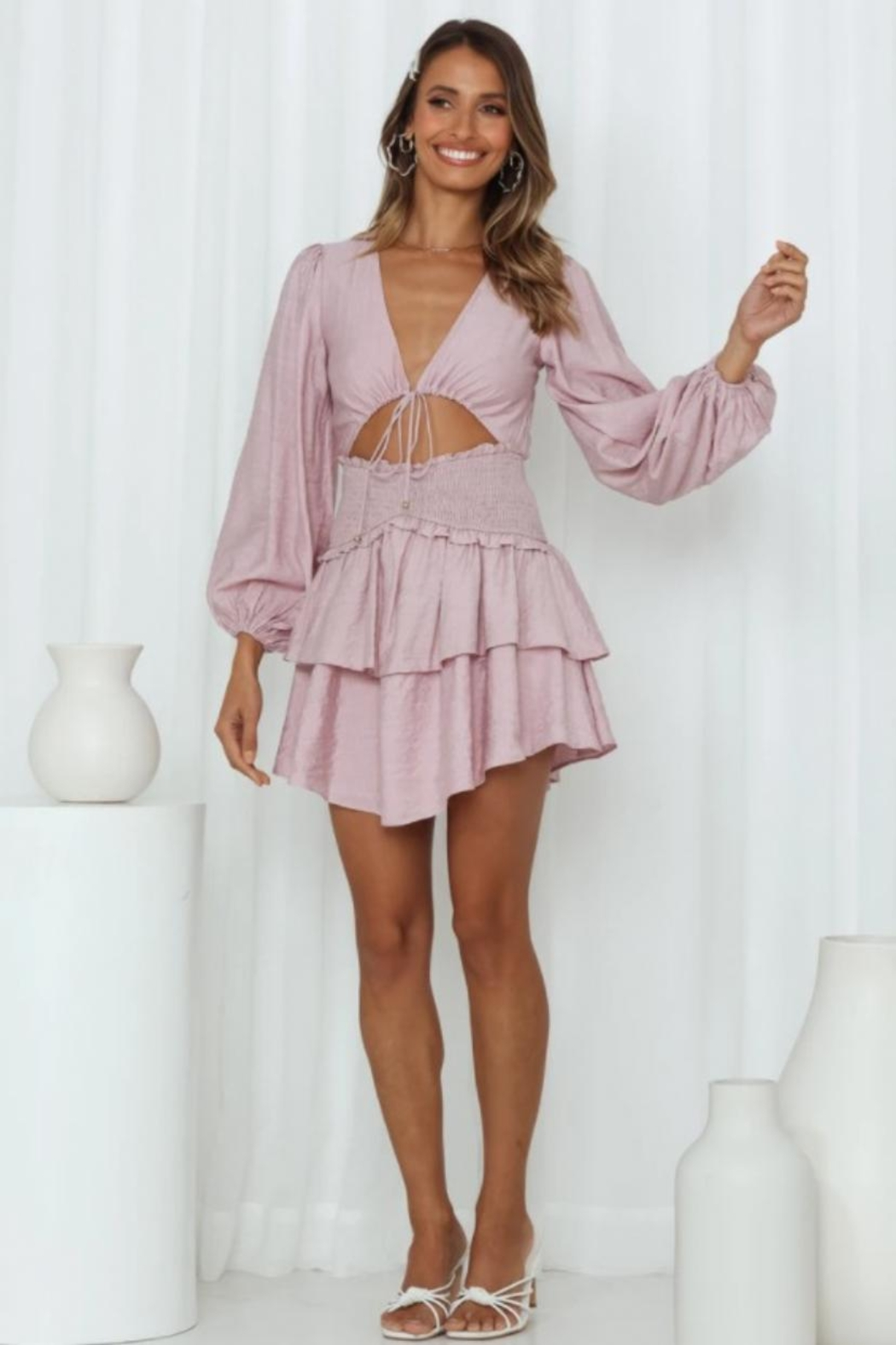 Chikas Cut-Out Tiered Dress - Main Image
