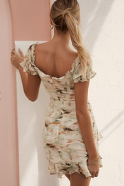 Chikas Floral Cut-Out Dress - Front full body