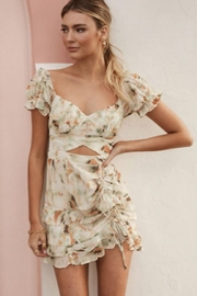 Chikas Floral Cut-Out Dress - Front cropped