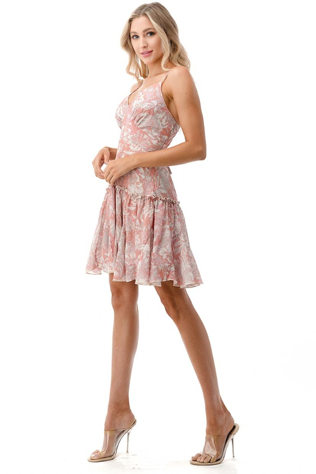 Chikas Floral Dress - Front Full Image