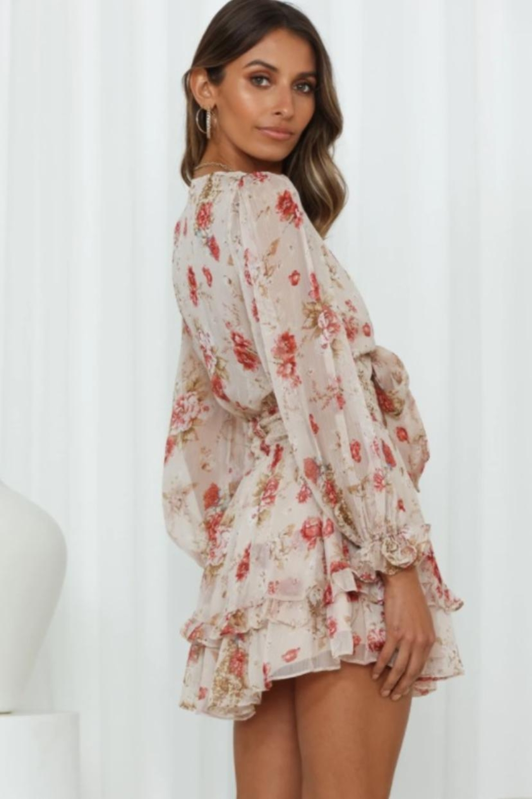 Chikas Floral Dress - Side Cropped Image