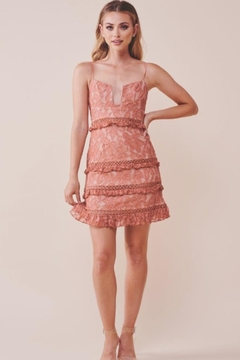 Chikas Floral-Embroidered Lace Dress - Product List Image